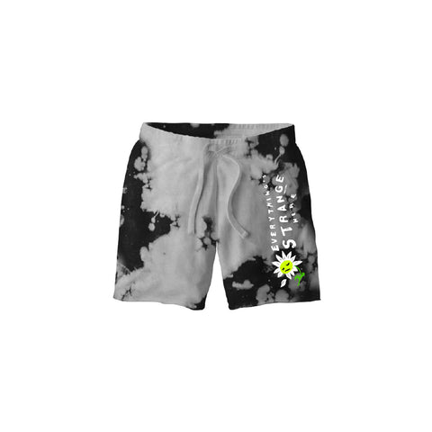 """FALLING PETAL"" SWEATSHORTS (heather grey/black)"