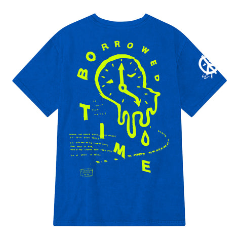 """BORROWED TIME"" TEE (royal blue)"