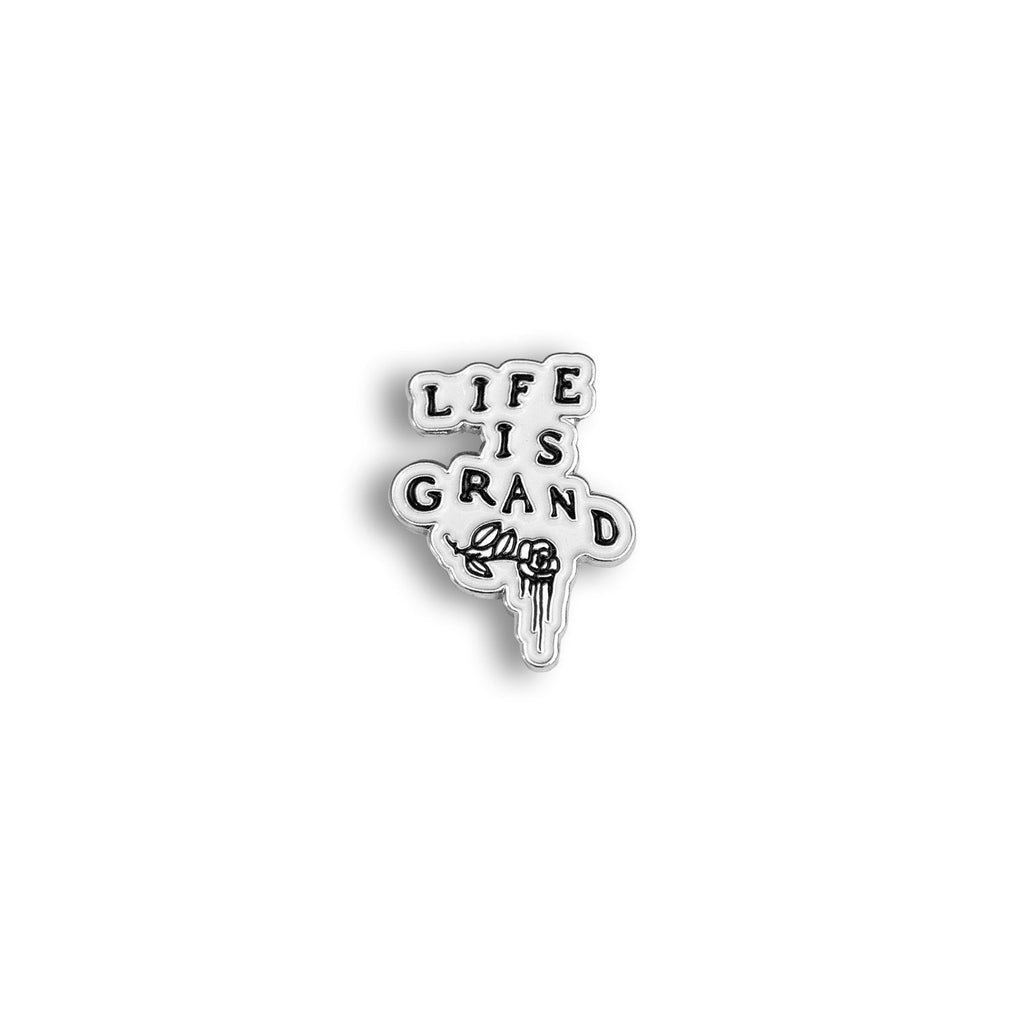 "Life Is Grand 1"" Lapel Pin"