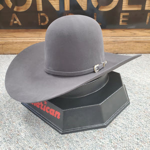 "American Hat Co. - 10X SteelFelt Cowboy Hat - Open Crown - 4 1/2"" Brim"