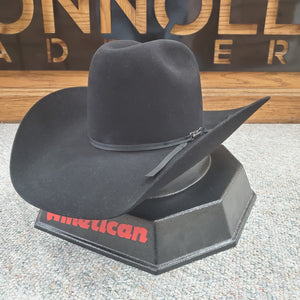 "American Hat Co. - 6X Black Felt Cowboy Hat - 4 1/4"" Brim"