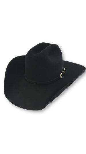 "American Hat Co. - 10X Black Felt Cowboy Hat - 4 1/4"" Brim"