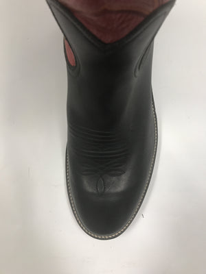 Honcho Black Mule w/ Red Top #8836