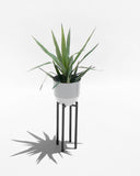 "Pale Gray 8"" Spun Planter - Hesby"