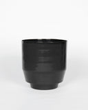 "Black 8"" Spun Planter - Hesby"