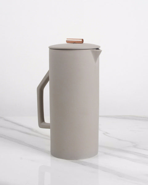 Minimalist Ceramic French Press Coffee Maker