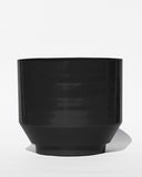 "Black Spun 16"" Planter - Hesby"
