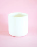 White Glazed Ceramic Planter - Hesby