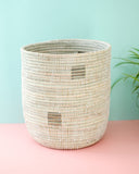 Tall White Pixel Basket - Hesby