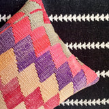 Bright Bohemian Modern One of a kind Turkish Kilim Pillow