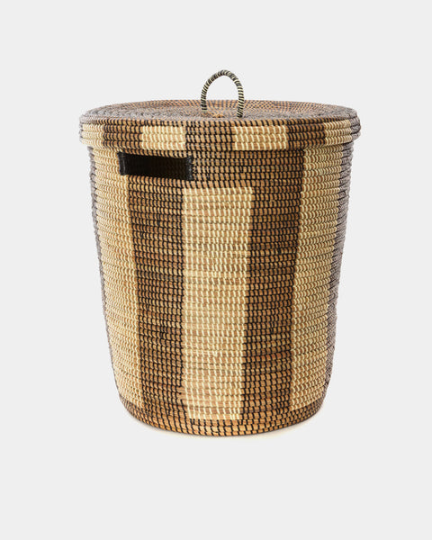 Chloe Striped Laundry Hamper - Hesby