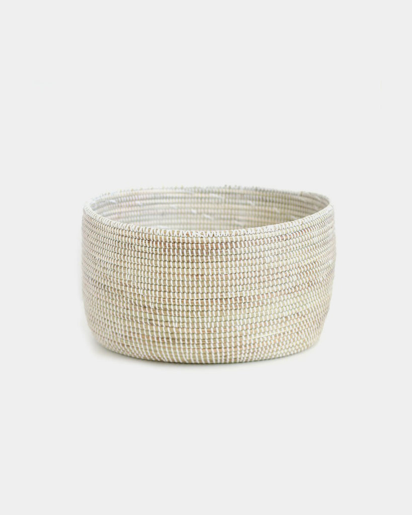 White Storage Basket - Hesby