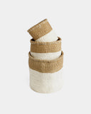 Vanilla Dipped Sisal Basket Set - Hesby