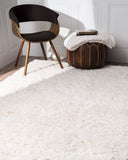Modern Plush White Shag Area Rug