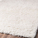 Plush White Shag Rug