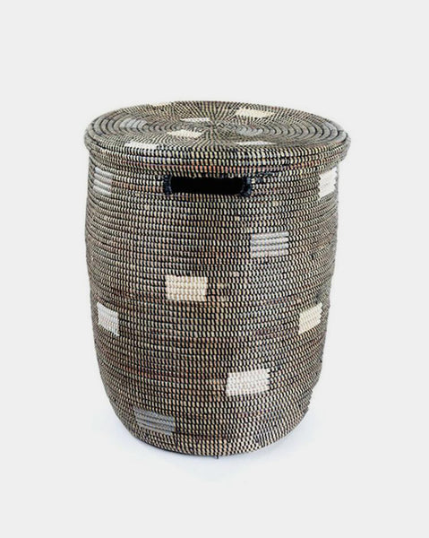 Black Pixel Laundry Hamper - Hesby