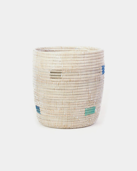 Tall Blue Pixel Basket - Hesby