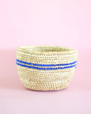 Boho Rustic Blue Beaded Nomadic Basket