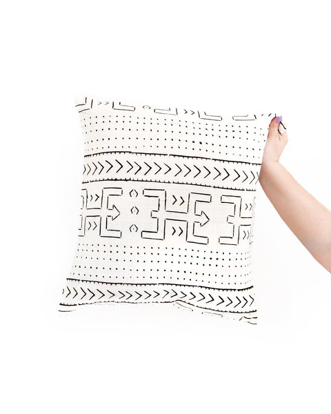 Boho Chic Handmade Koro African Mud Cloth Pillow