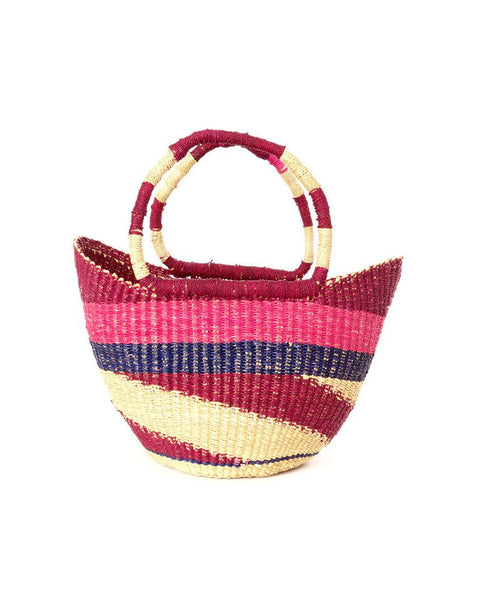Fair Trade Petite Pink Market Basket