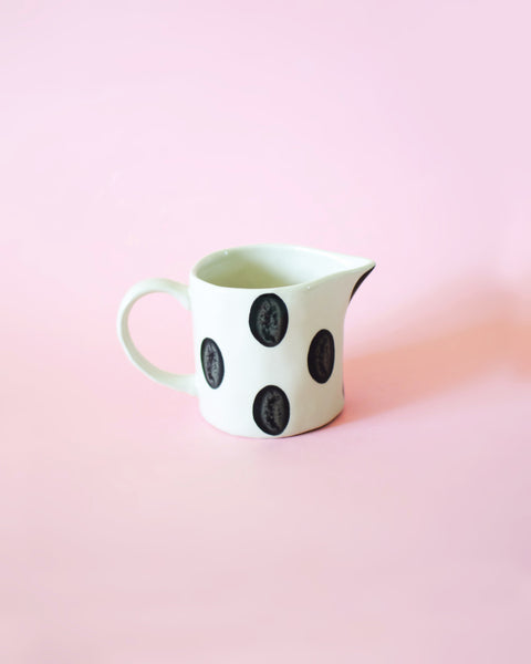 Dotted Ceramic Creamer