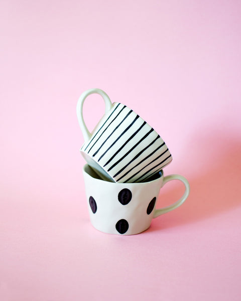 Graphic Dotted Mug Polka Dot Pattern Coffee Mug