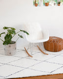 Bright White Scandi Style Vanilla Ice Cream Rug from Hesby