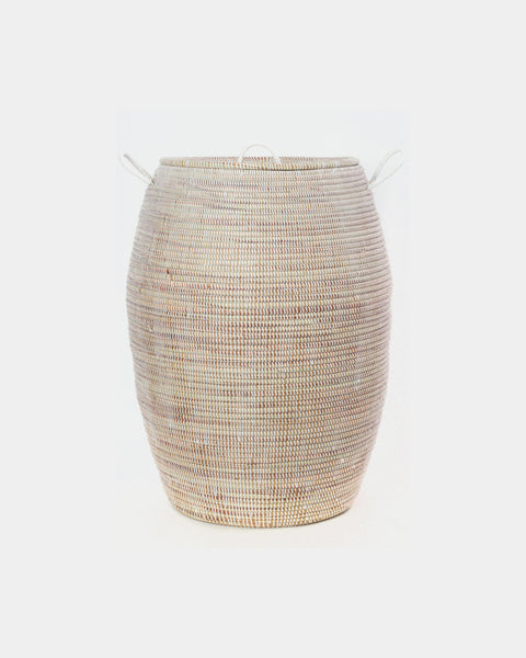 Dakar White Laundry Basket - Hesby
