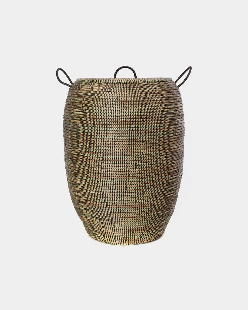 Dakar Black Laundry Basket - Hesby