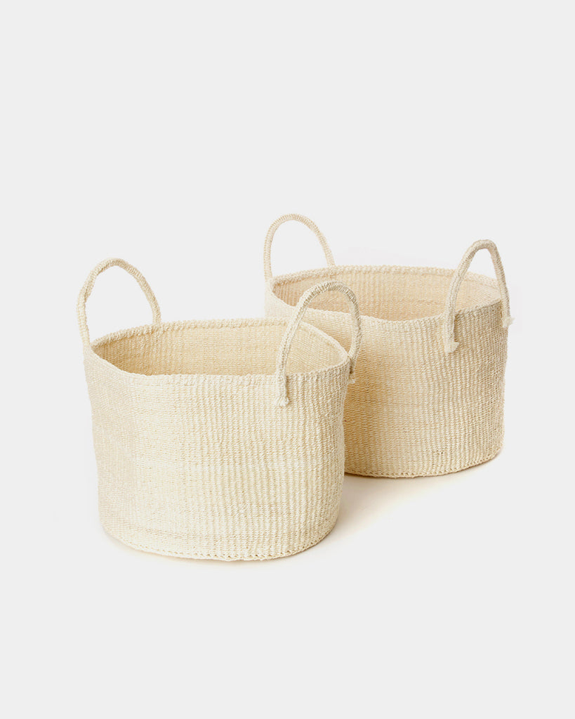 Wanderer White Basket Bag - Hesby