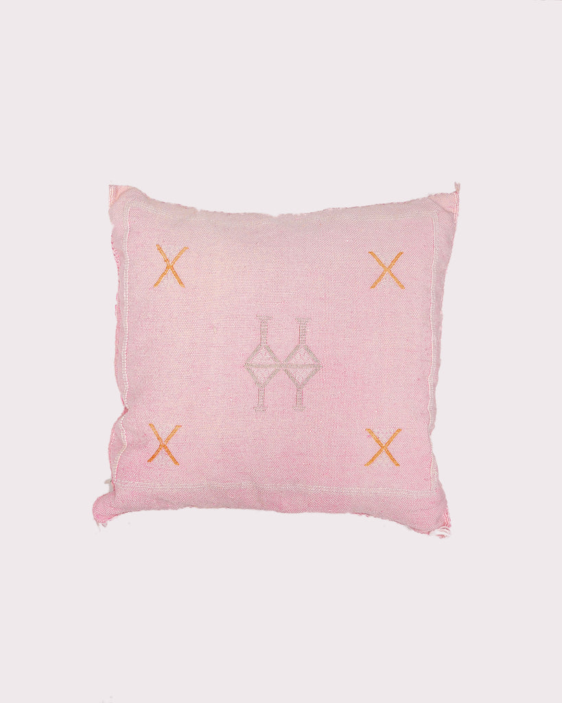 Georgia Faded Pink Cactus Silk Pillow