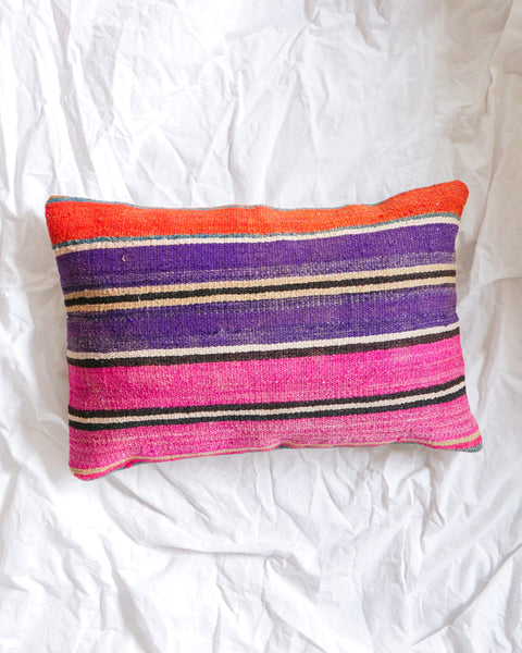 Striped Lumbar Kilim Pillow