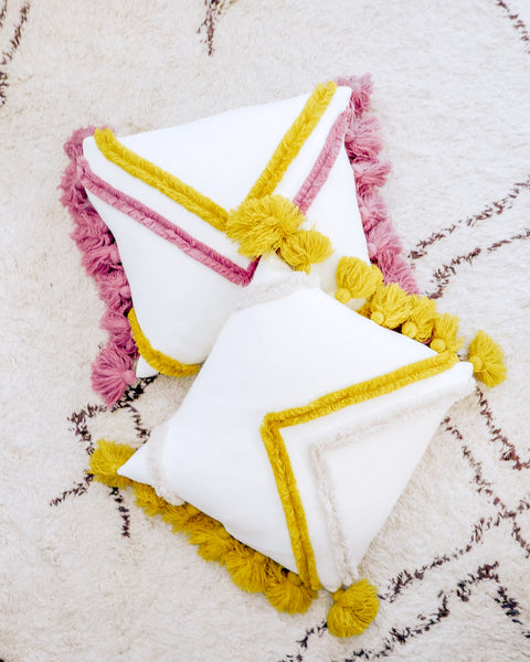 Mustard Tufted Lula Throw Pillow
