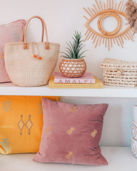 Pineapple Lilac Velvet Pillow