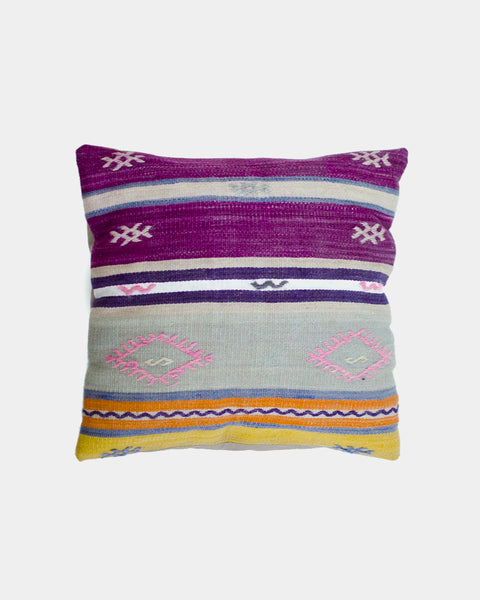 Purple Diamond Kilim Pillow