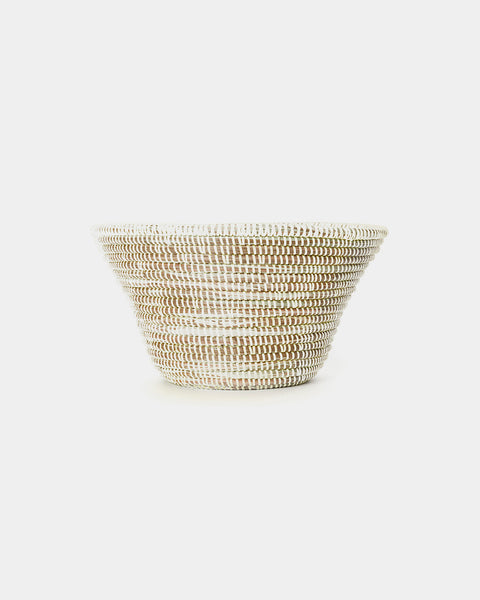 Zuri White Tabletop Basket
