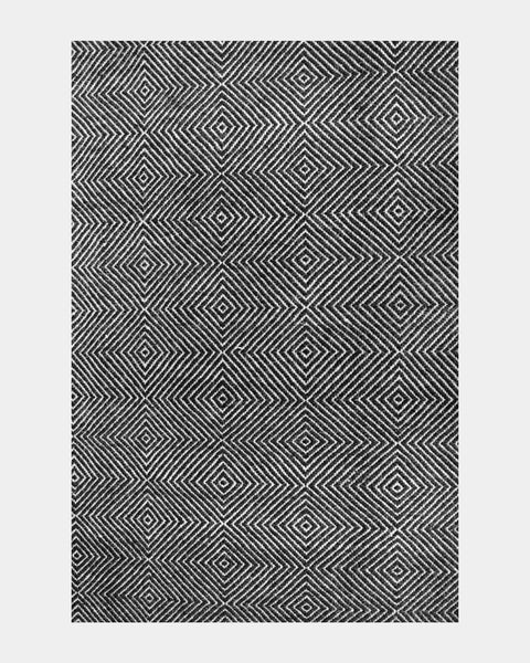Black Diamond Wool Rug - Hesby