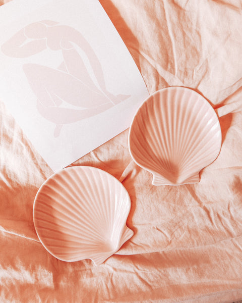 Blush Shell Dish