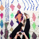 Boho Chic Moroccan Shag Rug from Hesby