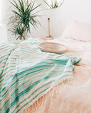 Mint Striped Fouta Towel - Hesby
