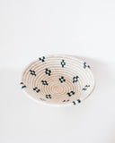 Pearl Black + White Tabletop Basket