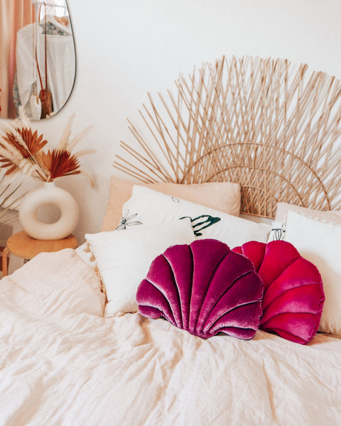Purple Sea Shell Pillow