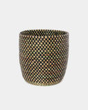 Cleo Black Tall Checker Basket - Hesby