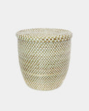 Cleo White Checker Laundry Basket - Hesby