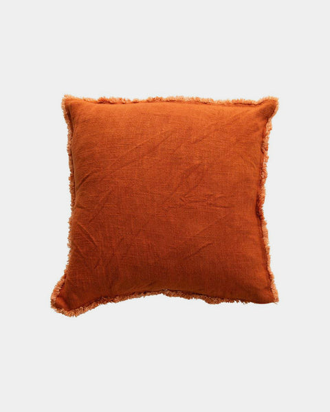 Desert Rust Fringe Throw Pillow