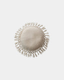 Fiona White Fringe Round Throw Pillow