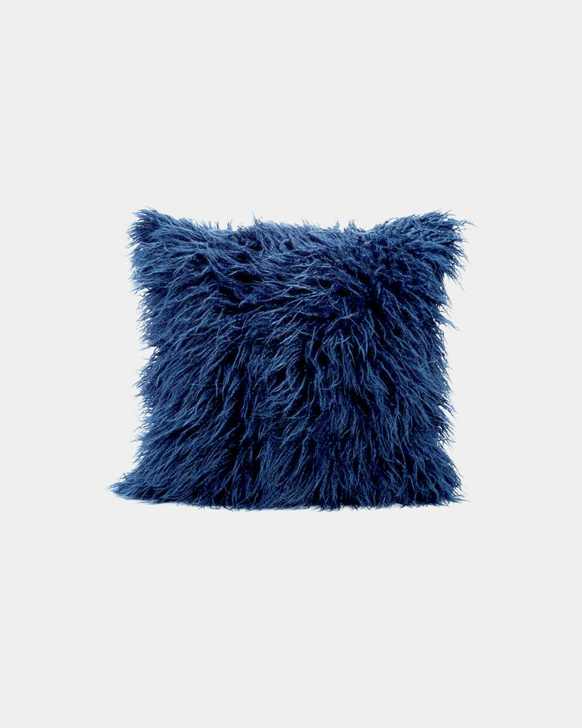 Indigo Faux Fur Pillow - Hesby