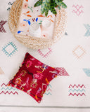 Rainbow Shaggy Graphic Kilim Pillow - Hesby
