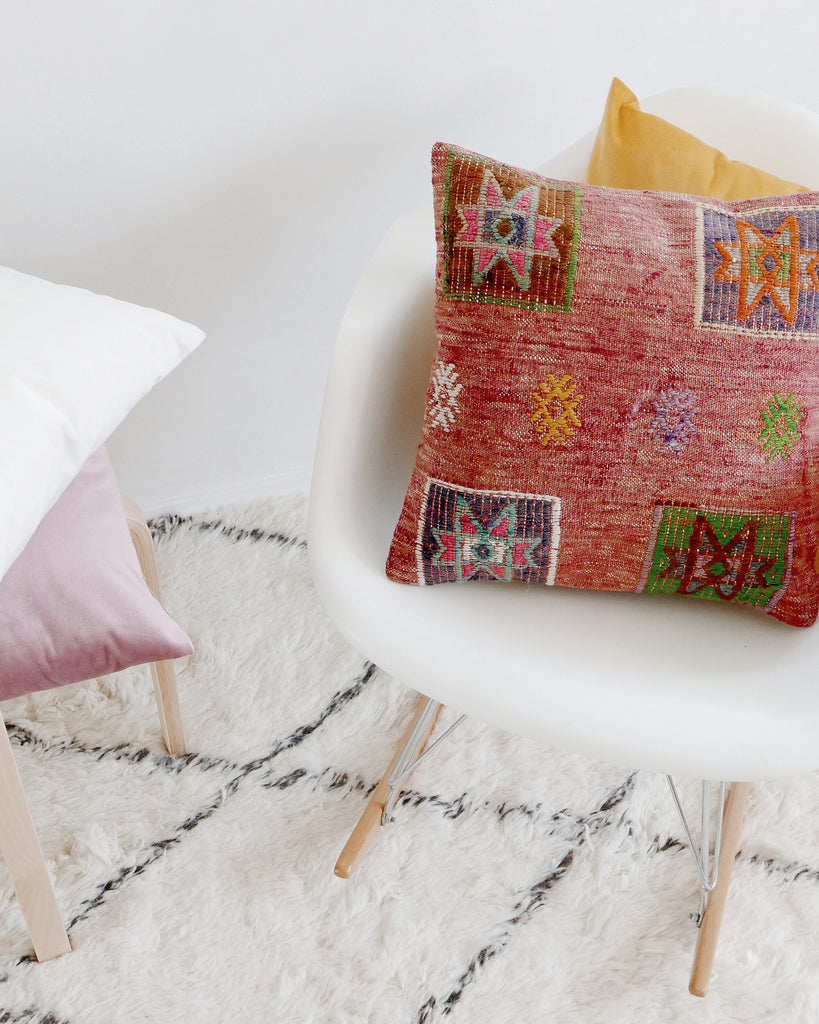 Hesby Vintage Ruby Kilim Pillow