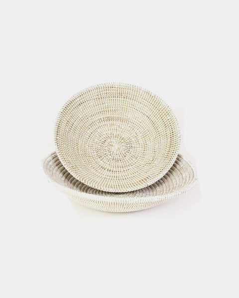 White Tabletop Basket - Hesby